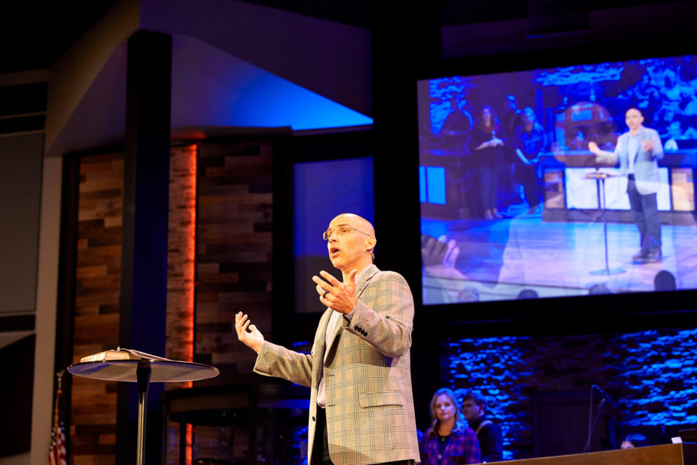 The church AV systems at Village Baptist help the pastor's message resonate.