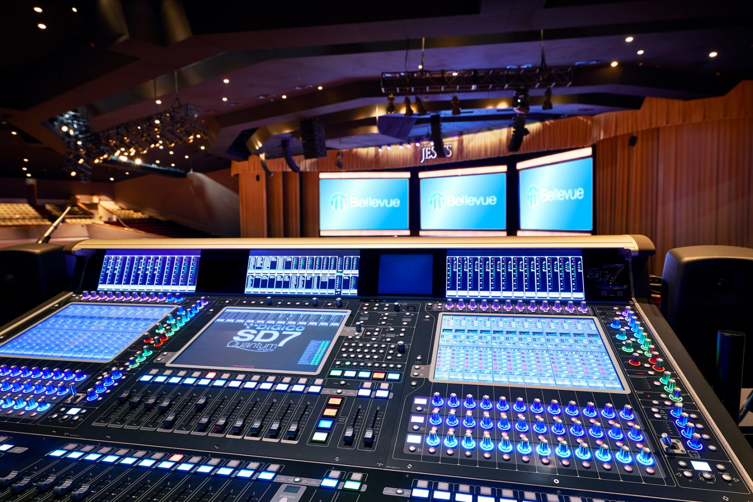 Audio design at Bellevue Baptist church with the DiGiCo Quantum SD7