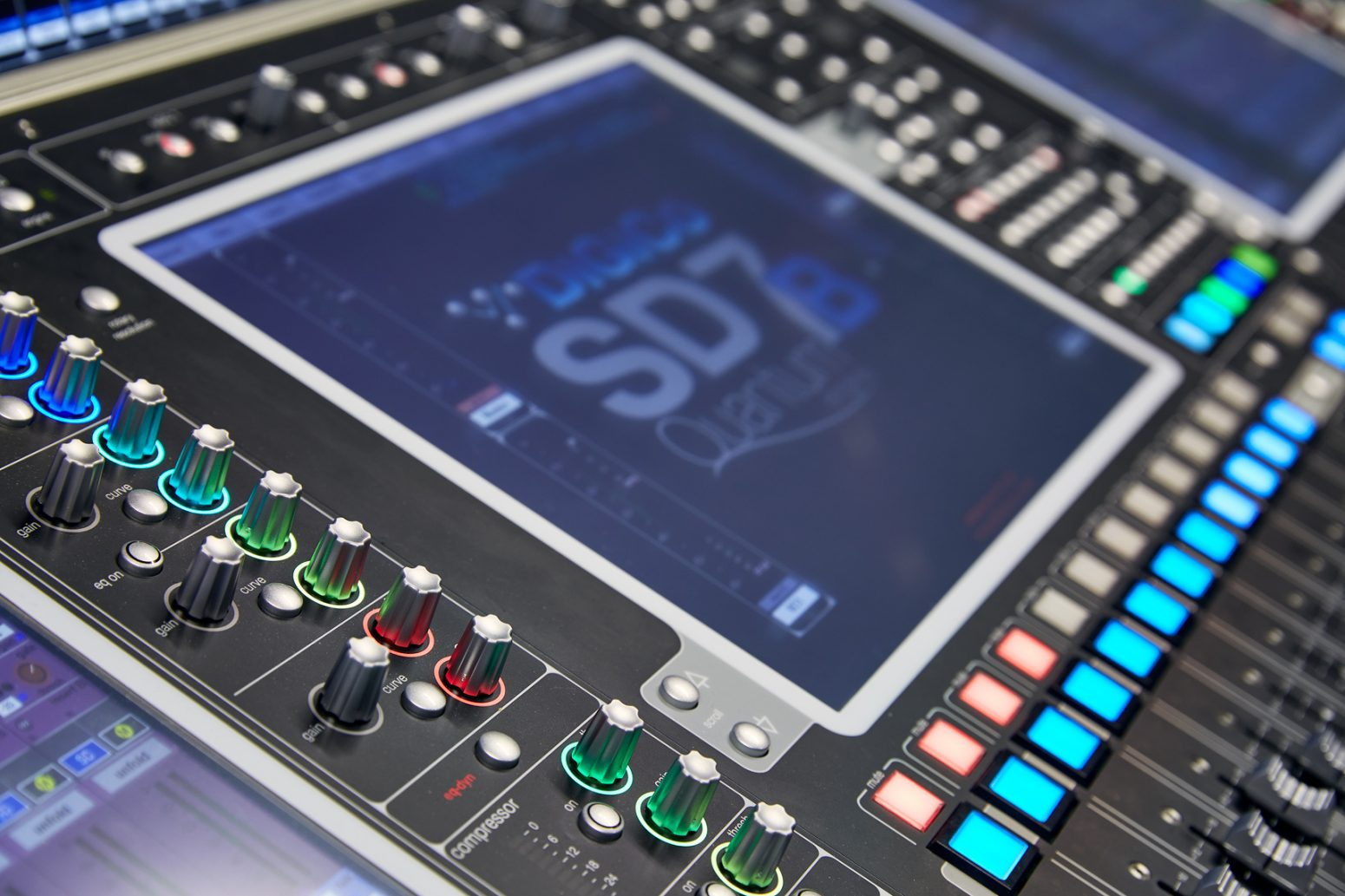 The DiGiCo Quantum 7 installed at Bellevue Baptist Church.