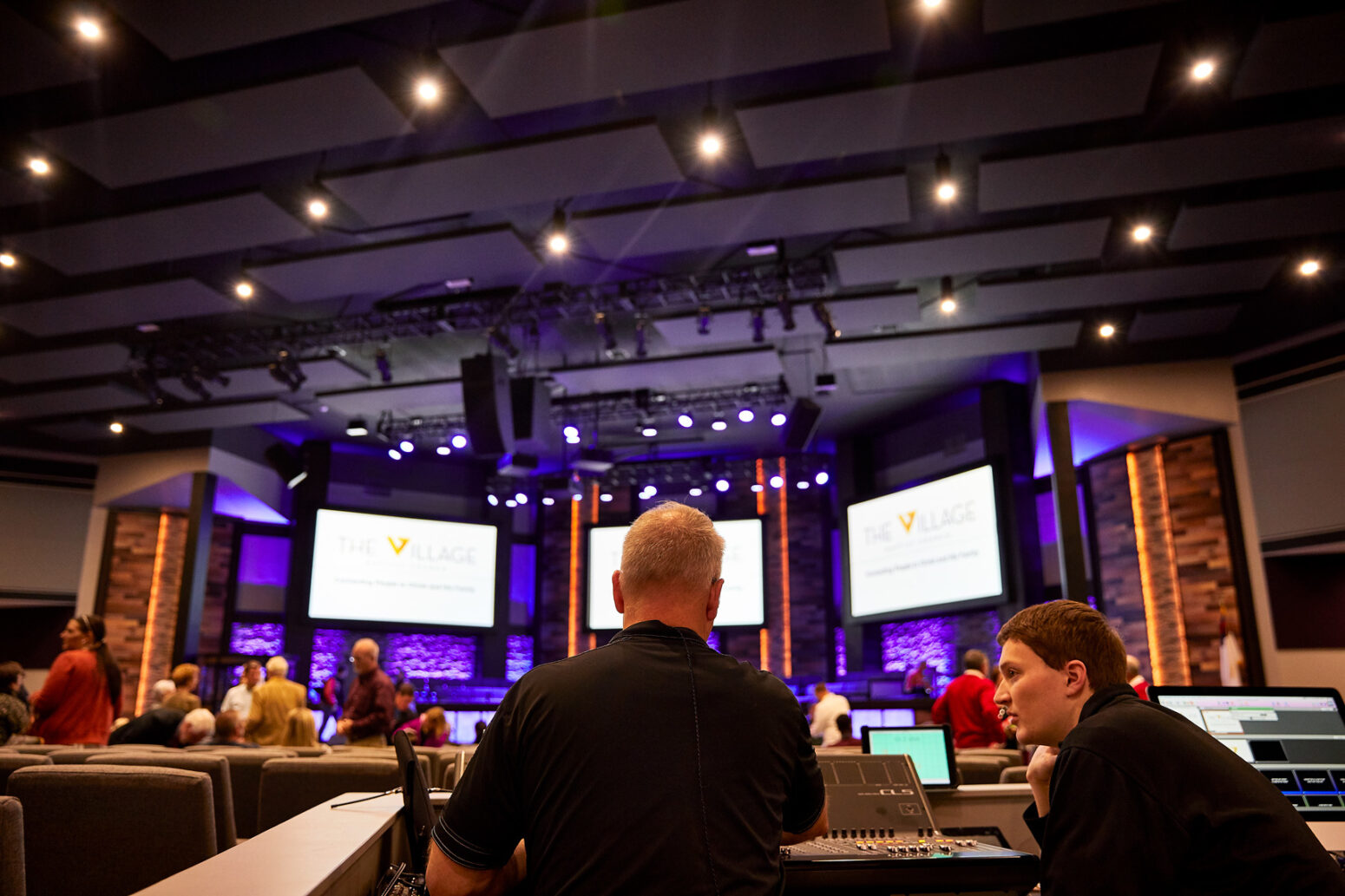 Paragon 360's work sets the benchmark for church audio visual companies, as you can tell from this project for Village Baptist.