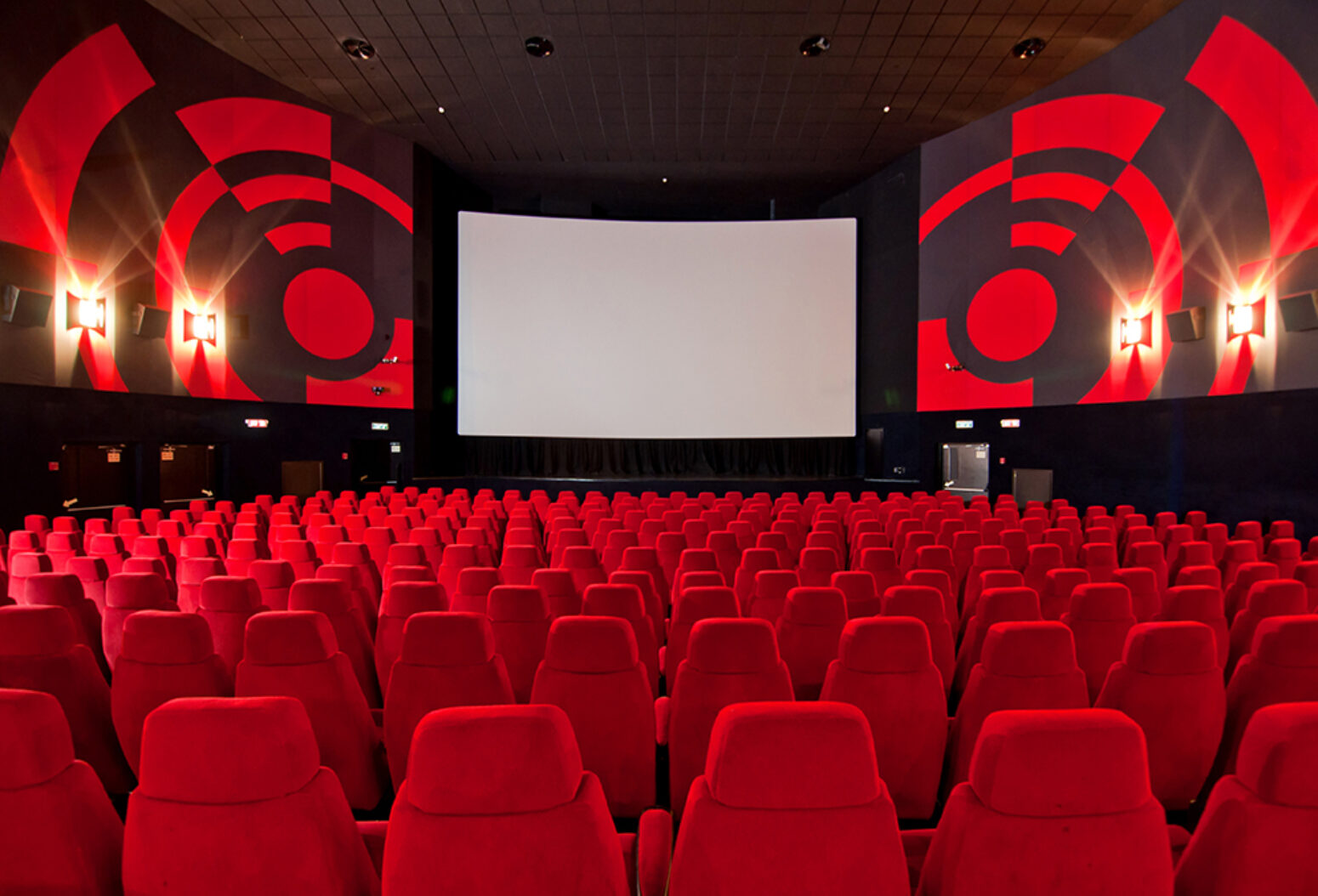 See FabriTRAK systems in action in this movie auditorium.