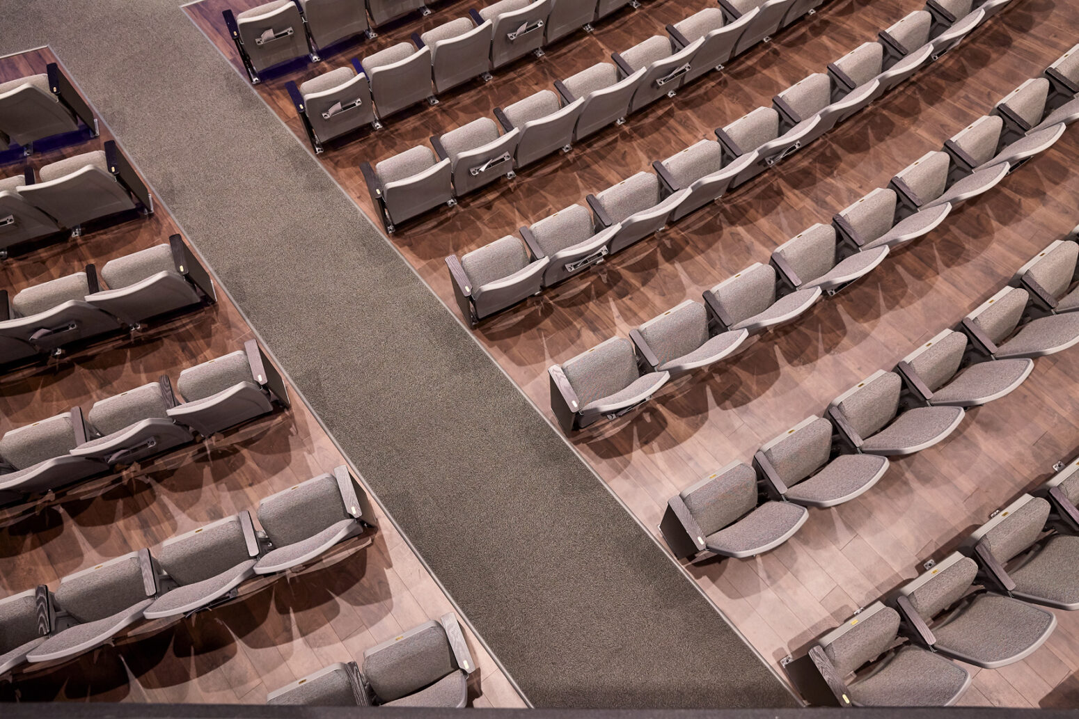 This auditorium design project maximized seating without sacrificing comfort.