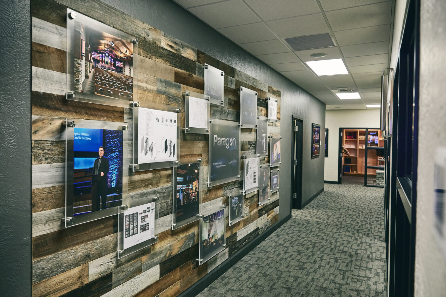 Church interior design project that involved improving administration spaces.