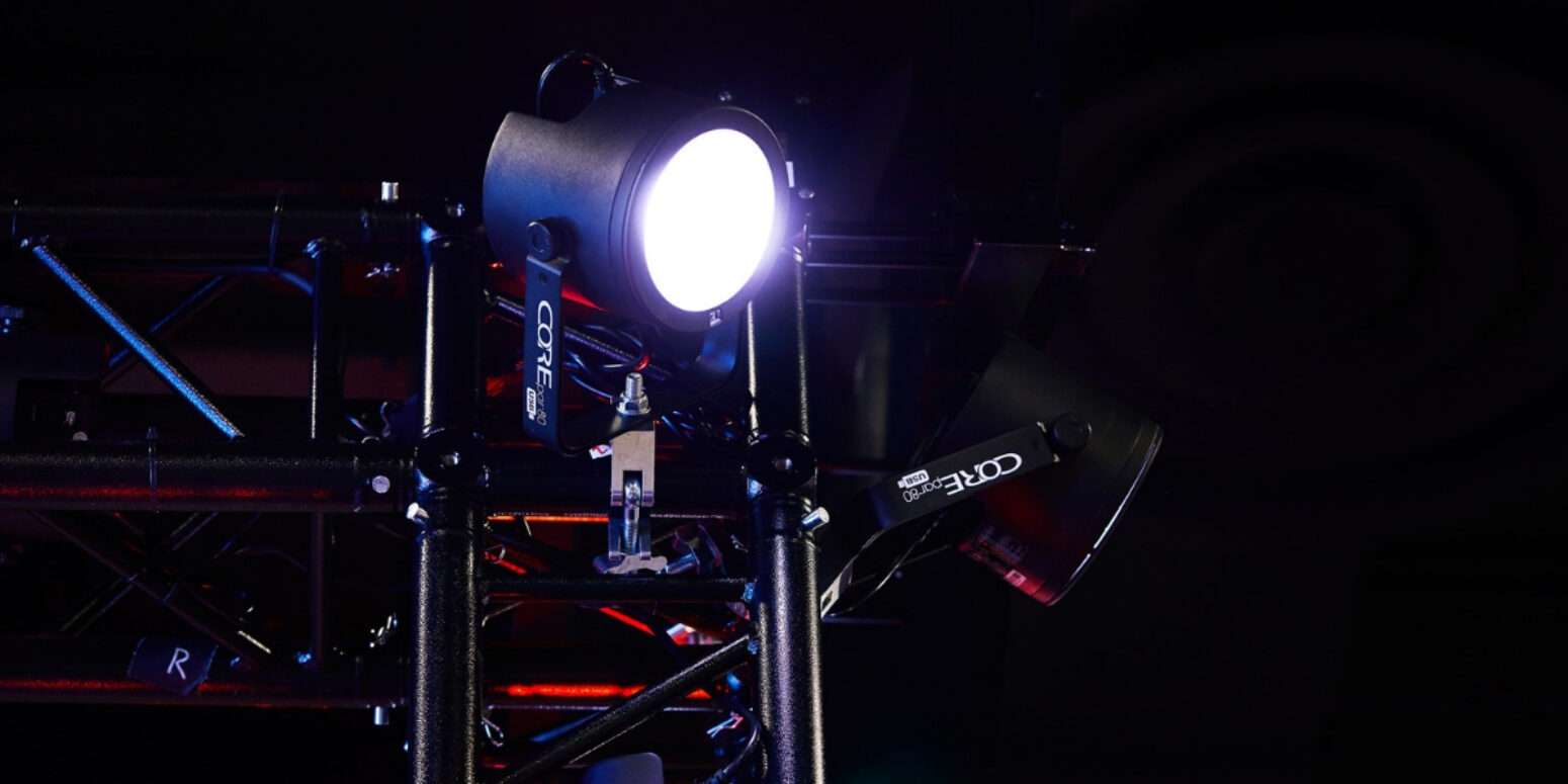 Professional stage lighting equipment like this LED light change the performance.