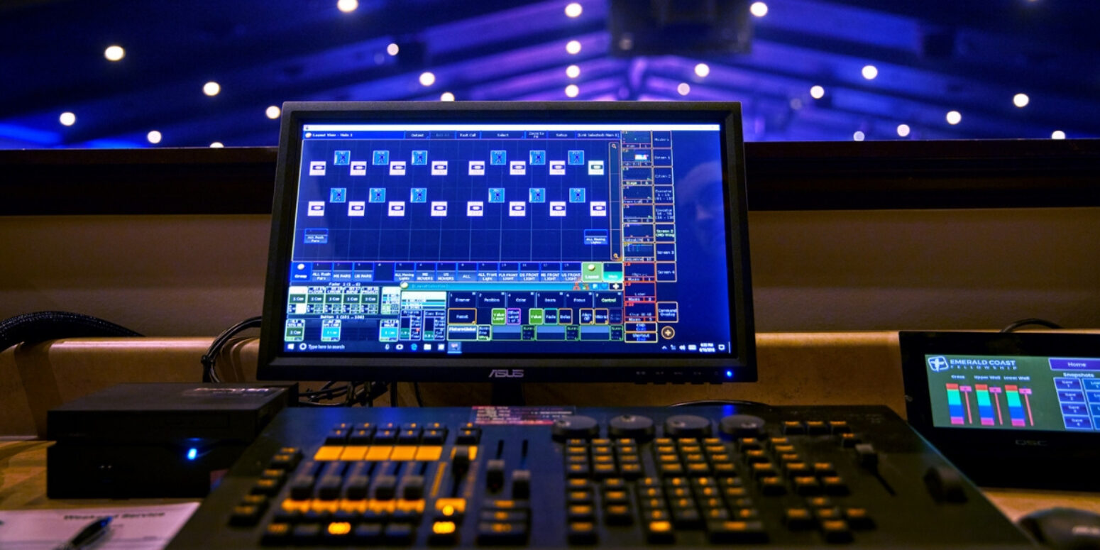 Our professional stage lighting systems control panels are easy to manage with proper training.
