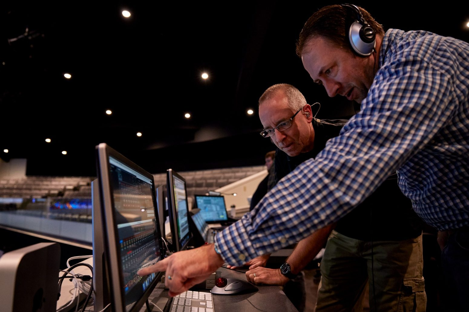 Audio design and AVL sound experts from Paragon 360 discuss a sound design project.