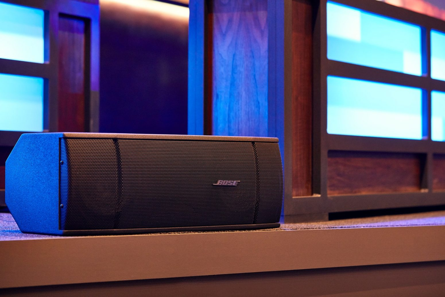 Bose speakers with AVL sound, installed for an audio design project by Paragon 360.