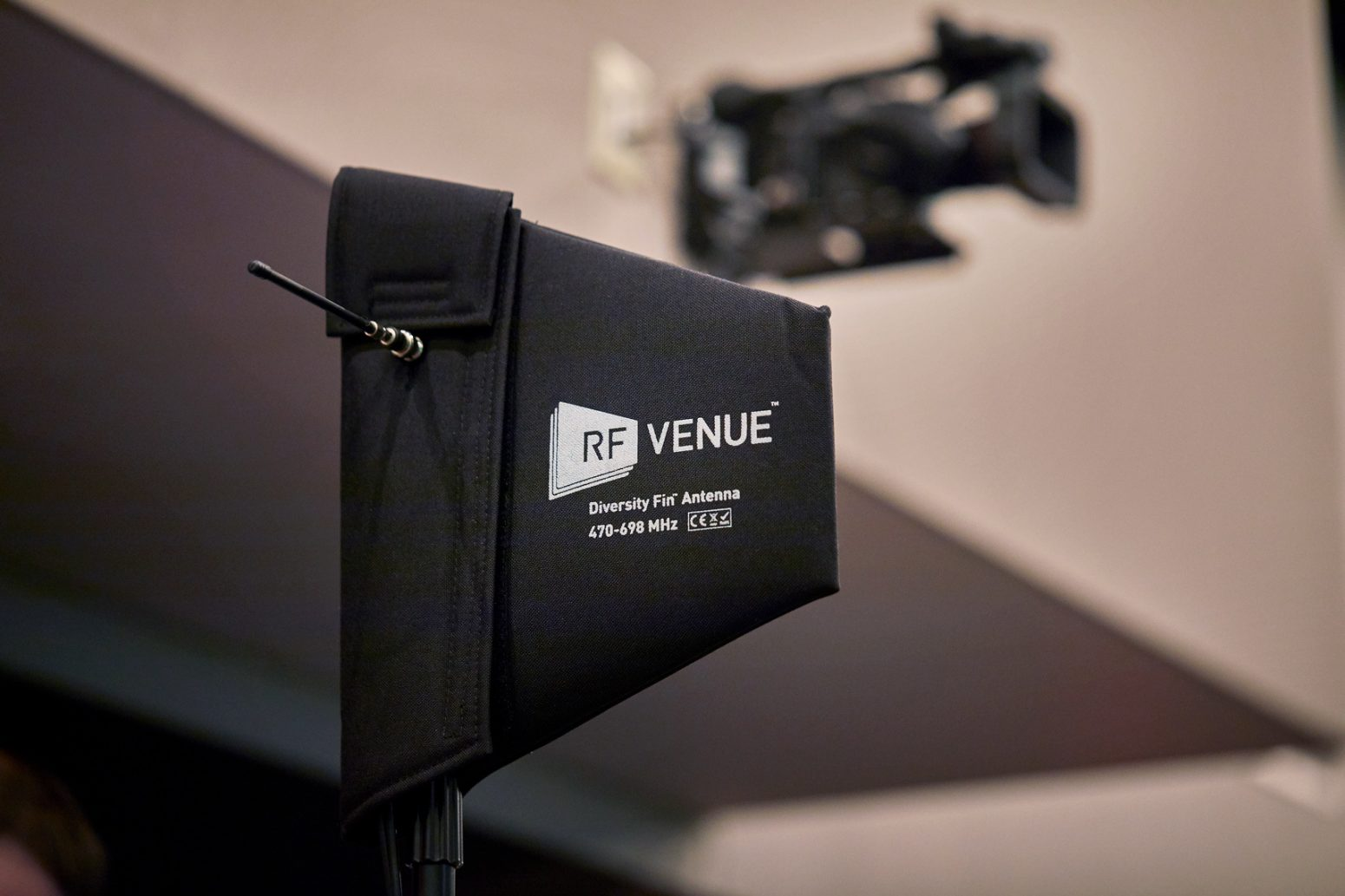 The audio design equipment Paragon relies on includes this RF Venue antenna.