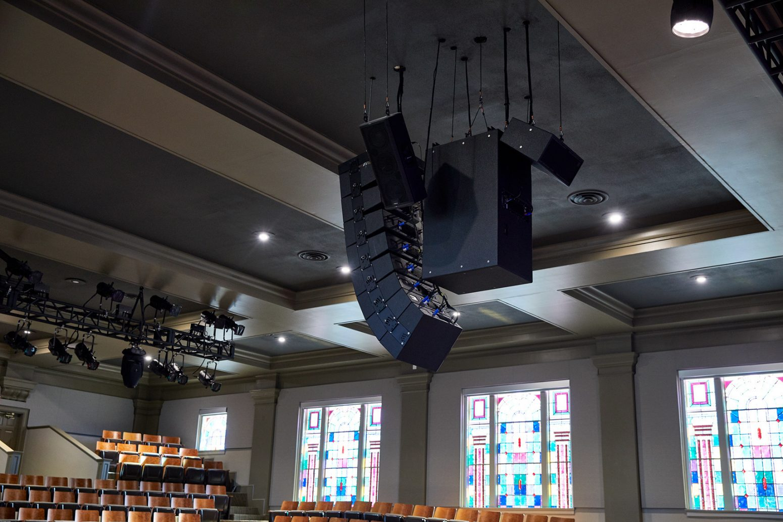 Audio designs and sound design company Paragon 360 created this ceiling sound system.