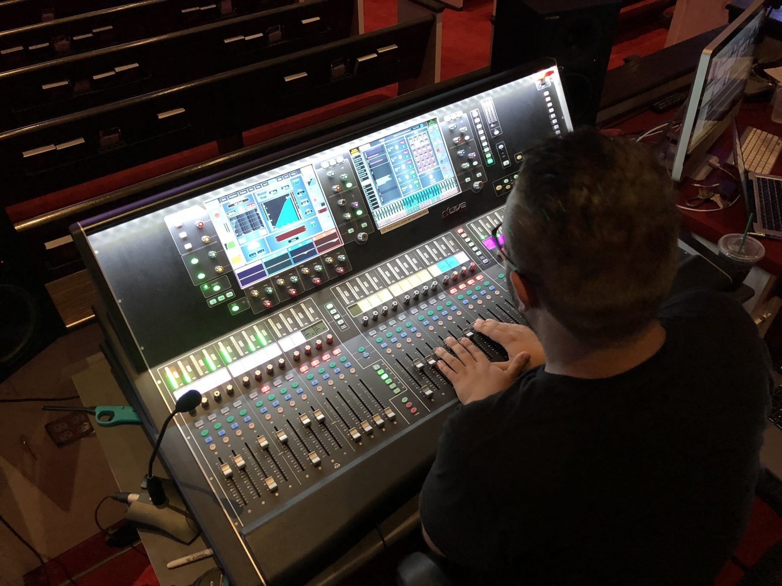 AVL sound is no problem with the right sound design equipment, like this sound board.